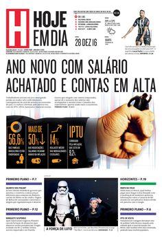 Capa do dia 28/12/2016 #HojeEmDia #Jornal #Notícias #News #Newspaper