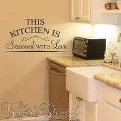 A Beautifully Scripted Vinyl Wall Lettering Decal Design For Your Kitchen Or Dining Areas That Reads