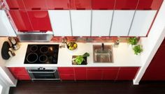 One wall kitchen in white