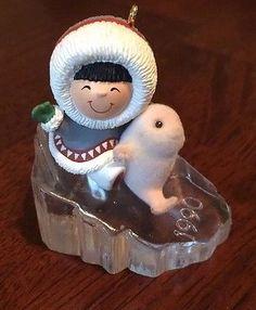 Hallmark Frosty Friends Ornament 11th Ice Eskimo Seal #11 Series Keepsake 1990