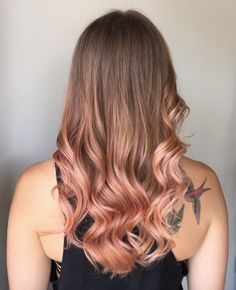 Antique rose gold ombre by Louise Power