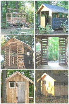 Diy pallet shed. Tack/feed room.