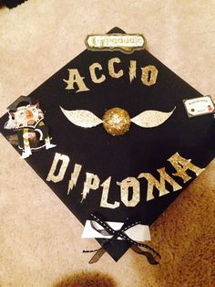 My MBA graduation cap. Harry Potter love
