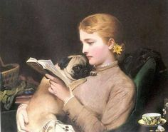 pug and a book ... the best