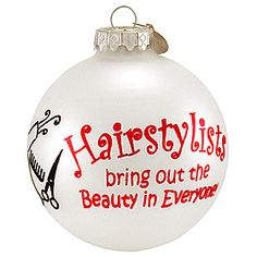 hairstylist #Christmas #hairstyle #ornaments $8.99 #BronnersChristmasWonderland #Bronners