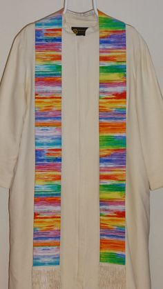 Clergy Stole:   Rainbow Layers by WomanoftheClothShop on Etsy