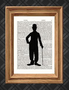 Dictionary Art Print Charlie Chaplin by picturehouseprints on Etsy, £5.00