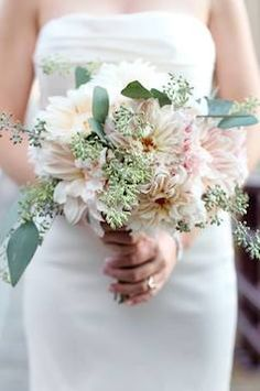 Bright spring or summer bridal bouquet with lots of bright green and light pink | Weddingful Chicago wedding vendors - A Stem Above - flowers & decor  Follow link to view vendor profile