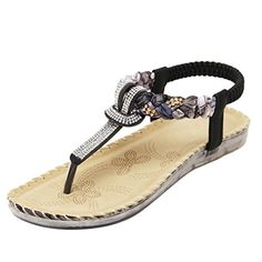 45bb3d35685 Dear Time Slingback Women Rhinestones Strap Gladiator Thong Flat Sandals     Thanks a lot for seeing our image.