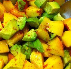 Avocado and Peach Salad