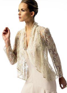 Vogue No. 4 from the Vogue sale. Vogue Patterns, Lace Jacket, Vest Jacket, Jacket Style, Mob Dresses, Nyc, Blazers, Jacket Pattern, Dressmaking