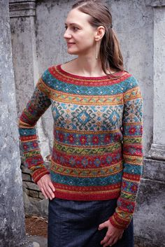 Dayana Knits: Anatolia from Rowan 54 - And More New Orleans Tips!My most beautiful knit: Anatolia from Rowan Mag pattern by Marie Wallin, knit by Dayana Knits Fair Isle Knitting Patterns, Fair Isle Pattern, Knitting Charts, Knitting Designs, Knit Patterns, Free Knitting, Knitting Projects, Sock Knitting, Knitting Tutorials