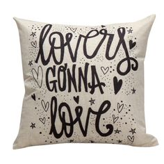 """Lovers Gonna Love"" Cushion Cover (45x45 cm) - US $3.04"