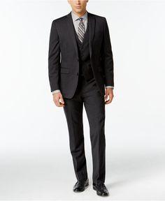 Bar III Dark Charcoal Slim-Fit Suit Separates - Suits & Suit Separates - Men - Macy's