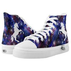stylish -  Galaxy purple beautiful unicorn starry sky pattern High-Top  sneakers Sapatos b631203dd475f