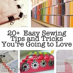Sewing Crafts 20 Easy Sewing Tips and Tricks You're Going to Love - 20 fabulous sewing tips that will help anyone wanting to learn a few new sewing tips and tricks! Great for beginners and experienced sewers alike. Sewing Hacks, Sewing Tutorials, Sewing Crafts, Sewing Tips, Sewing Ideas, Sewing Lessons, Techniques Couture, Sewing Techniques, Leftover Fabric