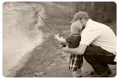 Father & Son fishing photo! Will be taking one of these soon :)