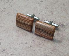 Rustic Oak  Wood Wooden Cufflinks   032 by OruAka on Etsy, $14.75