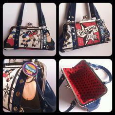 Roller Derby Glitter Kisslock Handbag by Disgraceland on Etsy, $45.00