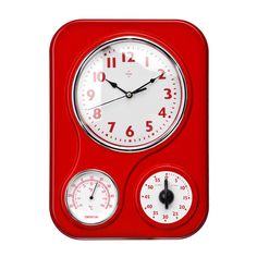 Premier Housewares Red Wall Clock U2013 2200545 U2013 Add A Touch Of Warmth And  Luxury To