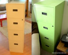 Spray Paint an Old Filing Cabinet, and other spray paint ideas (blog post on what spray paint is very best)