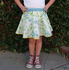 SO much easier to draft your twirl skirt pattern with this method!
