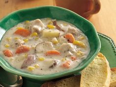 slow cooker dill- turkey chowder