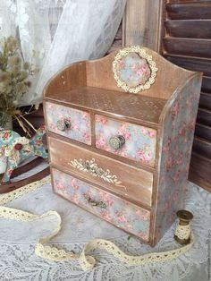 "Mini handmade chests. Fair Masters - handmade. Buy Mini komodik ""Floral chintz"". Handmade. Chest of drawers, plywood"