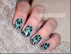 Freehand Leopard Nails by Love4Lacquer