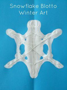 Snowflake Blotto Winter Art Activity for Kids