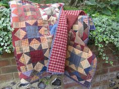 My take on Flannel Sawtooth Stars from Fons and Porter's book, Fat Quarter Friendly - I love the chevron border..