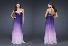 purple strapless dresses 2011 with sweetheart neckline by La femme Collections