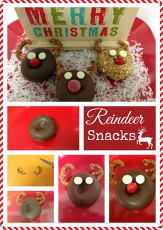 Get printable instructions for this Reindeer dessert for kids. #Christmas #Desserts #Crafts #Kids #Edible Holiday Crafts You Can EAT! ♥