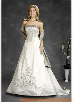 2012 Extravagantes Brautkleid aus Satin A-Linie