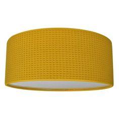 Plafonniere geel wafel