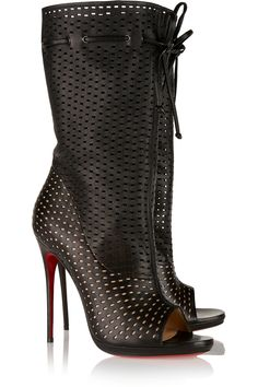 CHRISTIAN LOUBOUTIN Jennifer 120 perforated leather boots  $1,895.00 http://www.net-a-porter.com/products/525157