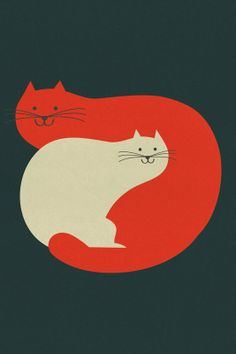 Purrrrrr big print by blancucha on Etsy, $60.00