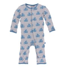 KicKee Pants Little Boys Print Coverall with Snaps - Feather Mouse and Cheese