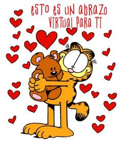Garfield And Odie, Valentines Gifts For Him, Love Kiss, Happy B Day, Good Morning Wishes, Animation, Funny Love, Preschool Activities, Tigger