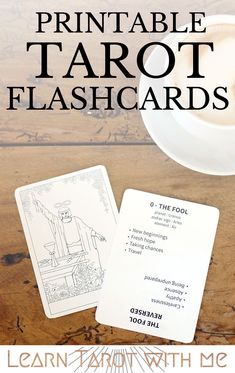 Have you tried using flashcards to help you memorize the meanings of each tarot card? These printable flashcards make learning the tarot easy! #learningtarotcards
