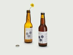 Packaging design with heat reactive illustrative labels created by Bedow for brewer Mikkeller