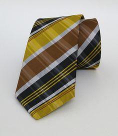 Ginger, Yellow and Brown Mens Tie 6 cm (2,36 #handmadeatamazon #nazodesign