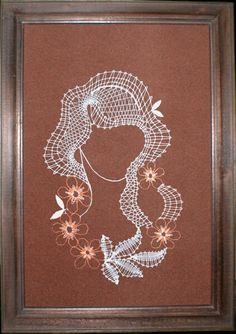 Dame Romanian Lace, Bobbin Lace Patterns, Lacemaking, Needle Lace, String Art, Quilling, Lady, Projects To Try, Album