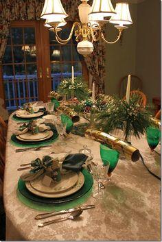 Irish Christmas Tablescape