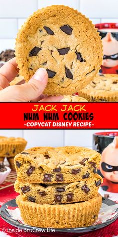 Jack Jack Num Num Cookies - these giant chocolate chunk cookies look and taste like the Num Num cookies at Hollywood Studios. Make this copycat Disney recipe for dessert and enjoy the magic at home! M&m Cookie Recipe, Favorite Cookie Recipe, Best Cookie Recipes, Snack Recipes, Dessert Recipes, Gooey Cookies, Edible Cookies, Edible Cookie Dough, Bar Cookies