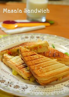 Tasty Appetite: How to make Grilled Masala Sandwich / Indian Style Sandwich / Easy Sandwich Recipes