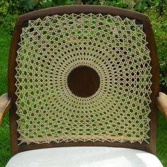 Cane medallion back arm chair repair the circular cane pattern Chair Repair, Old Baskets, Patterned Chair, Cane Furniture, Weaving Patterns, Vintage Chairs, Fiber Art, Design Art, Hand Weaving