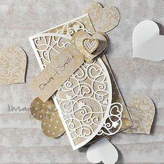venus, wedding, stationery, invitation, design, kraft, heart,