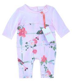 b6b097e28590 Ted Baker Baby Girls Romper Bodysuit Pink Floral Birds DESIGNER 3-6 Months  for sale online