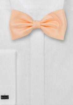 Herrenschleife Kunstfaser lachsfarben | Krawatte-Hemd.de